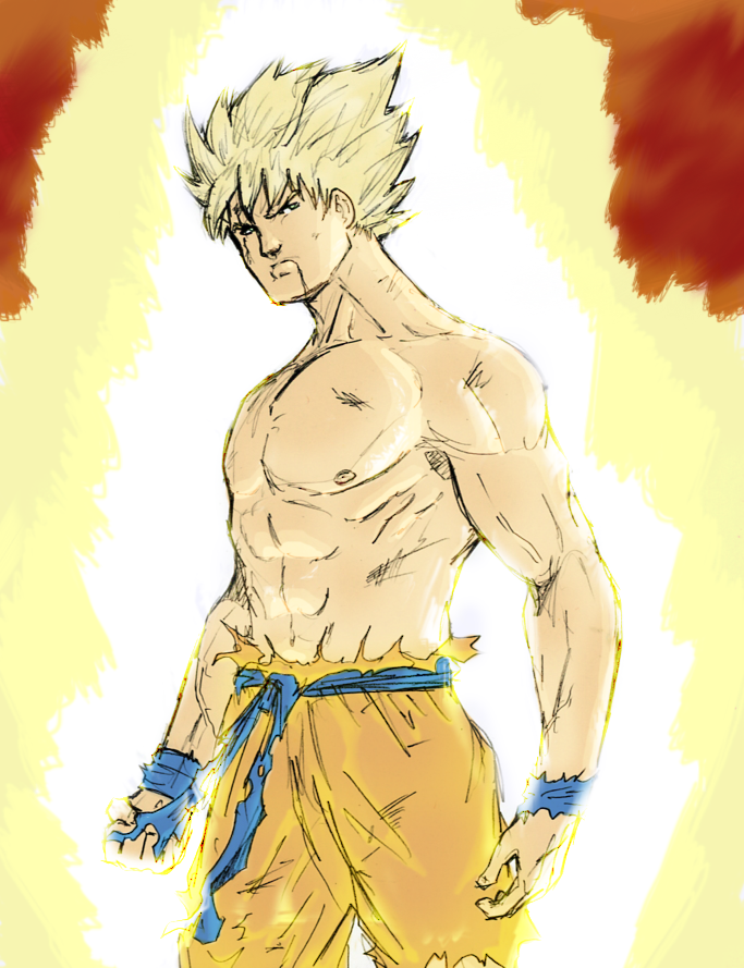 Super Saiyan Goku by spriteman1000