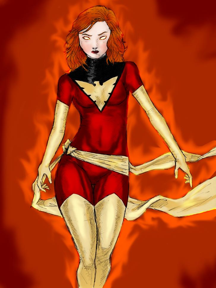 Jean Grey the Dark Phoenix by spriteman1000