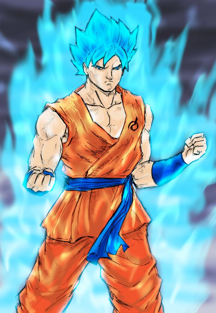 Super Saiyan God Super Saiyan Goku by spriteman1000