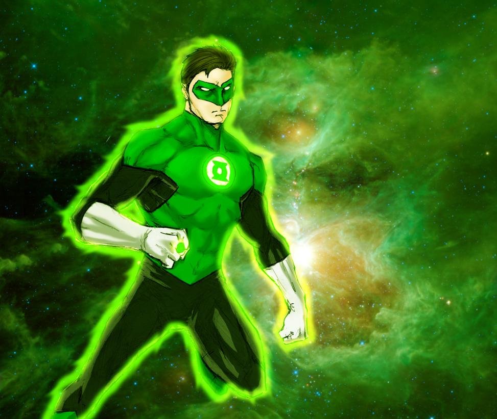 Green Lantern Hal Jordan by spriteman1000