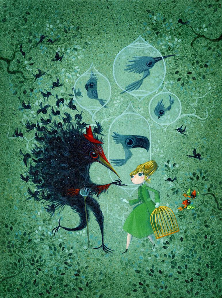 Catatonia (The Birds) by LorenaAlvarez