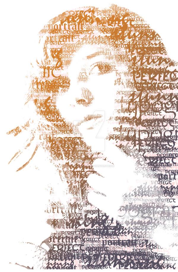 light - Typographic Portrait by dewydandelion
