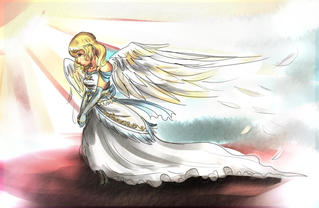 Angel in the Sun by awisha-teh-ninja