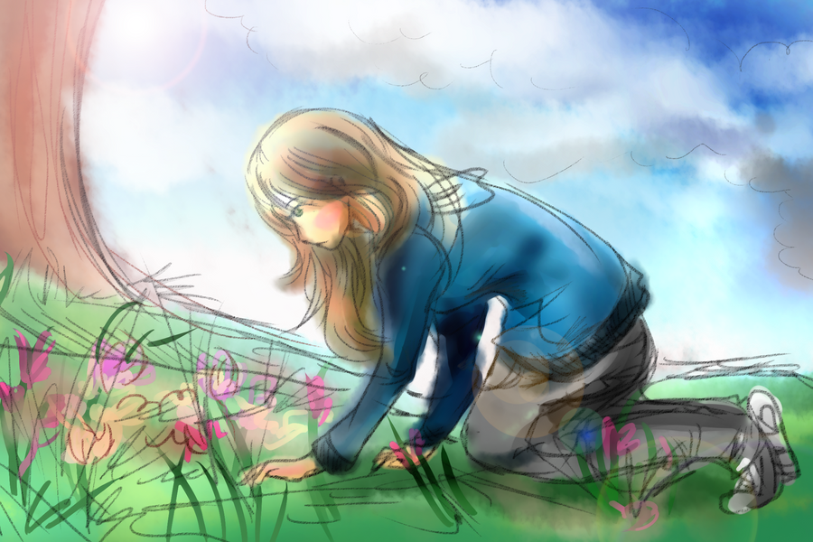 Looking for Flowers by awisha-teh-ninja