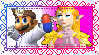 SSBM Dr. Mario x Princess Zelda Stamp by TheLuLu99
