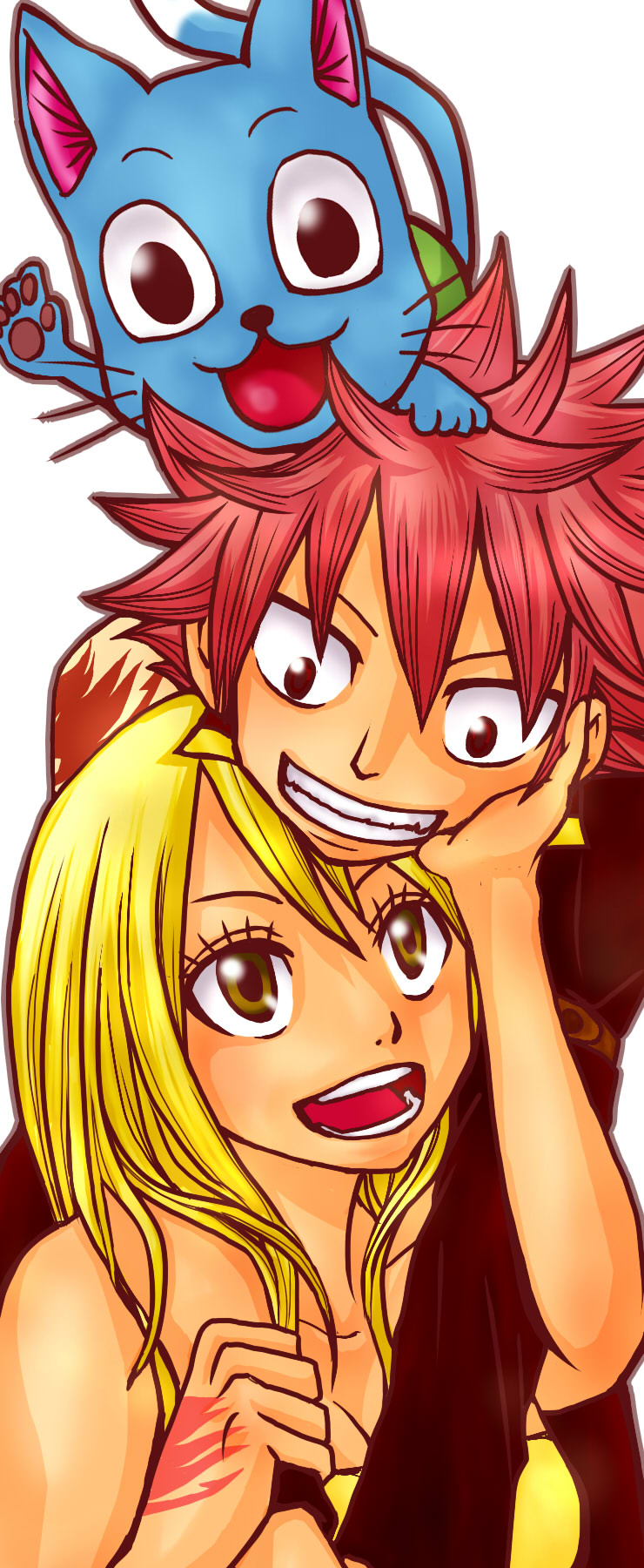 Pin natsu et lucy fairy tail asuna69 photos club adosfr on - Fairy tail happy and natsu ...