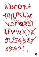 HemoGoblin Blood Spatter Typeface by amadeus-love