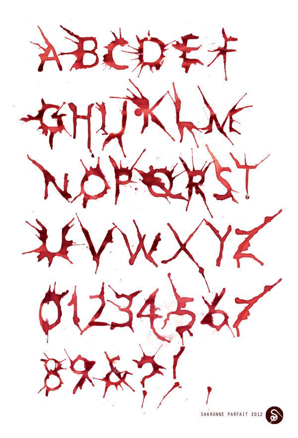 HemoGoblin Blood Spatter Typeface