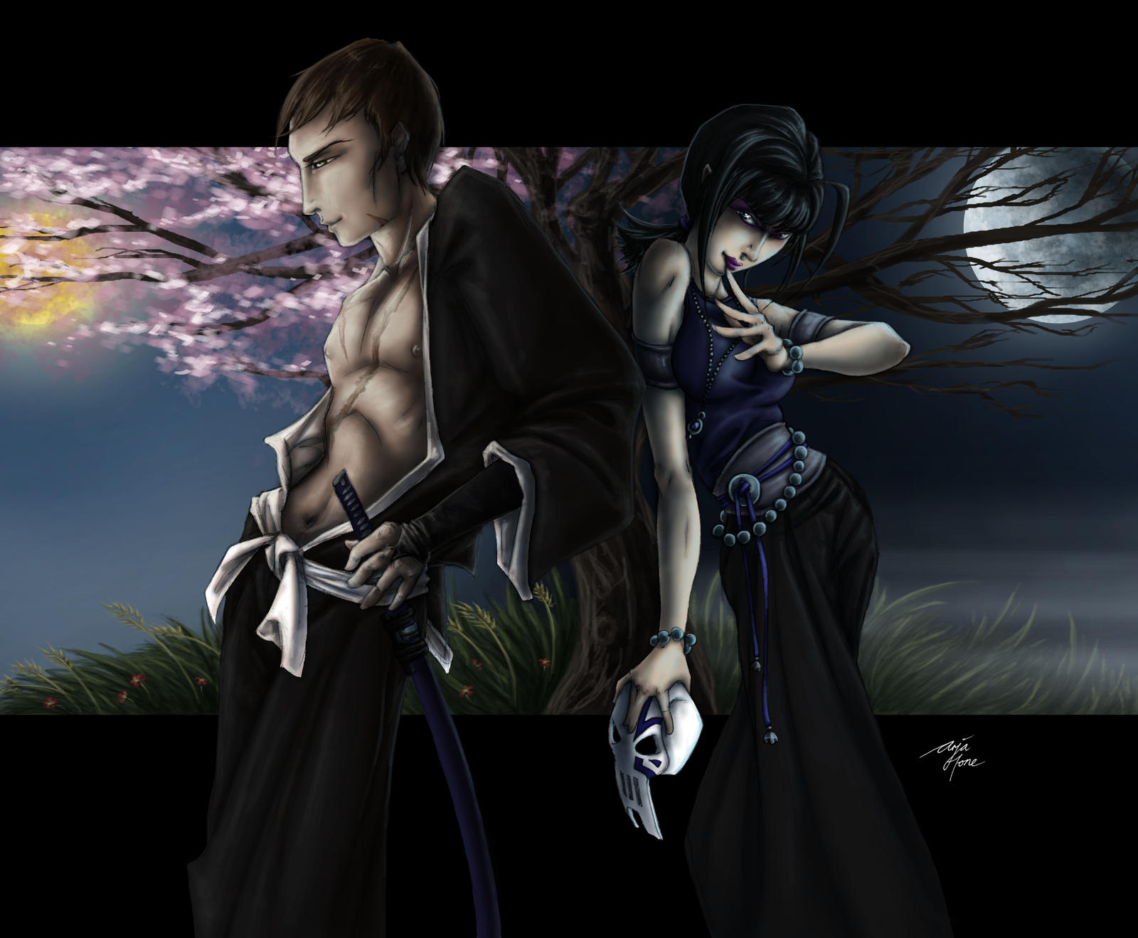 Anrak and Kage Shitsukoi by MercySW