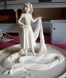 Rapunzel sculpt WIP by MissKrabs