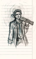 Angel with a shotgun by GeorginoschkaVincen