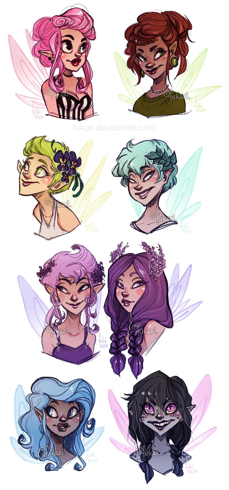 fairies adoptable open by fuki adopts on deviantart
