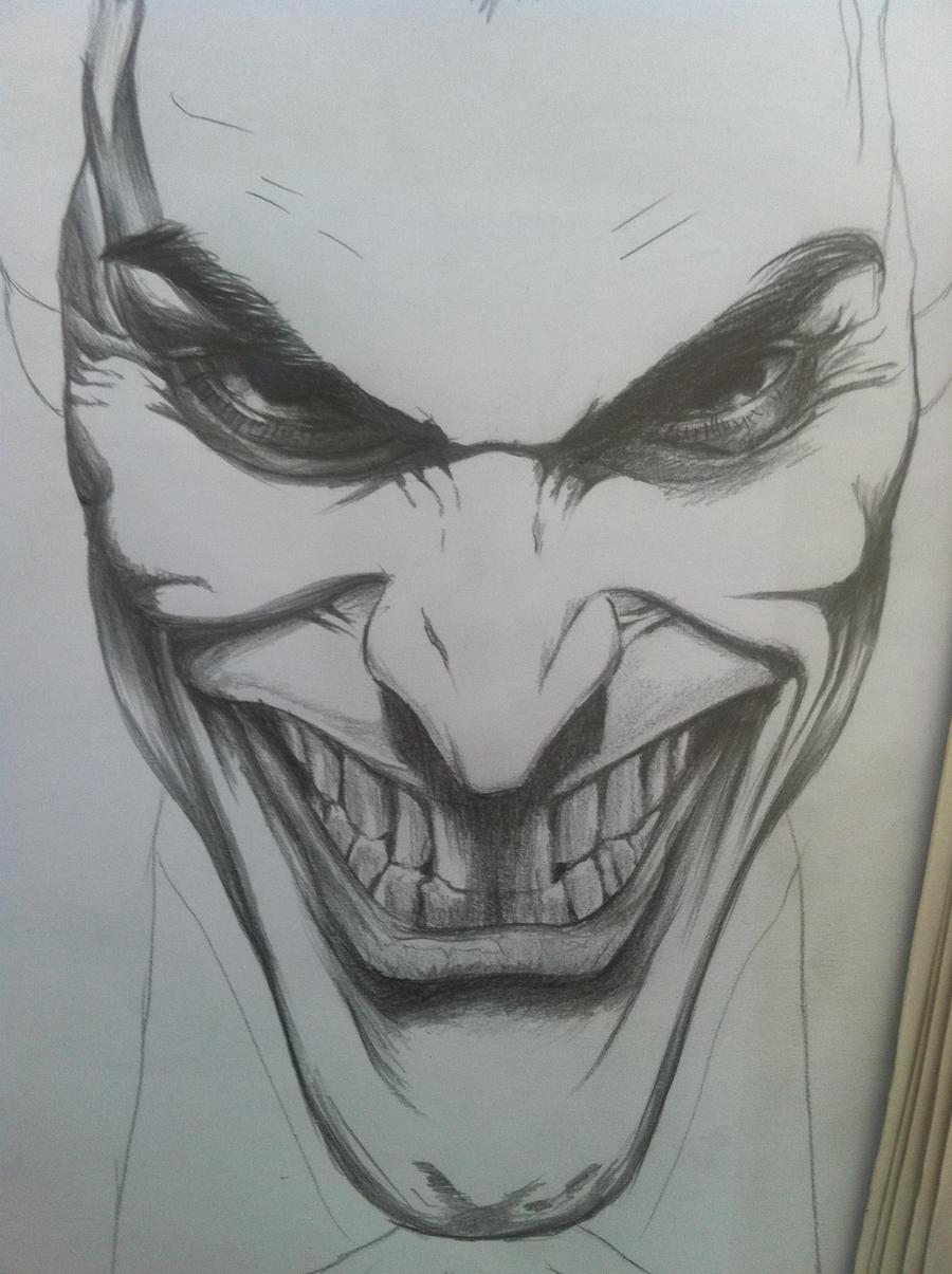 Joker Scribble Drawing : The joker initial sketch by guardianofevermore on deviantart