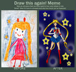 Before After Sailor Moon