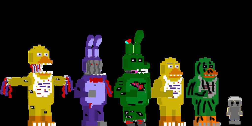 My fnaf 4 minigames style animatronics by kerocraft1395 on deviantart