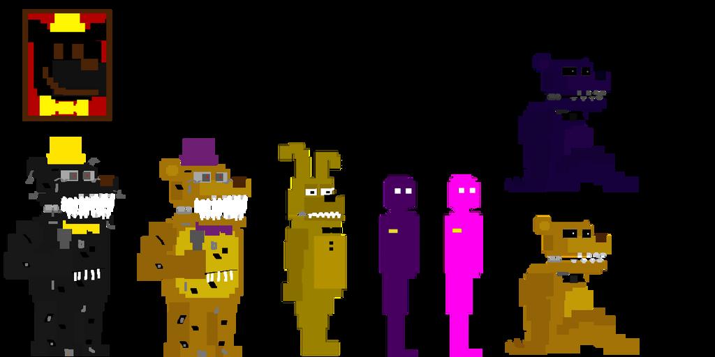 My Fnaf 4 Minigames Style Animatronics 2 By Kero1395 On