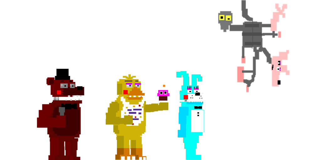 My fnaf 4 minigames style animatronics 4 by kero1395 on deviantart