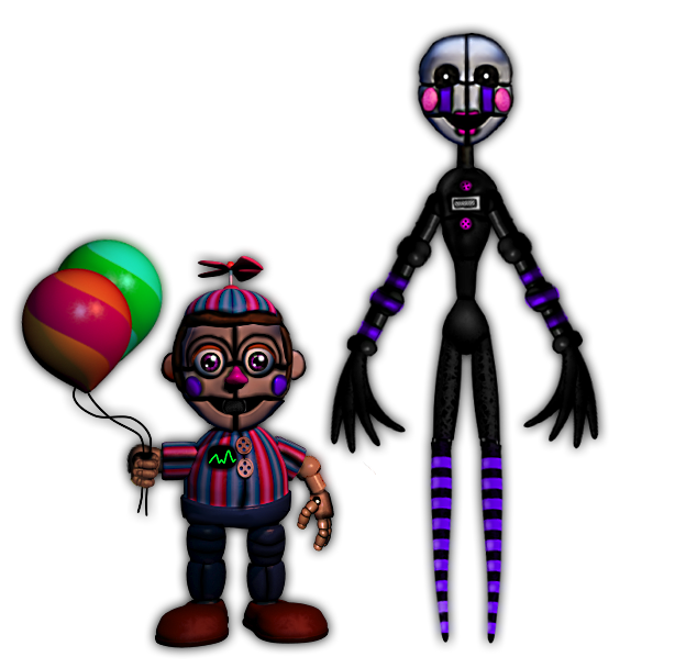 Fnaf sl funtime puppet and bb by kero1395 on deviantart