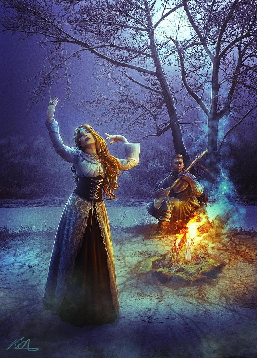 Dancing in the moonlight by AlexanderKorolev