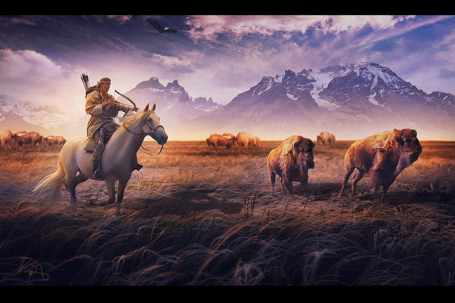 Field eternal hunting by AlexanderKorolev