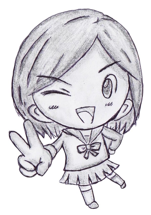 Peace Sign Chibi By Silenthero27 On Deviantart
