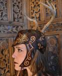Celtic Queen Antler Headdress