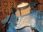 Women's Leather Armor, detail- Blue Jay