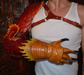 Leather Dragon Arm 2 by SavagePunkStudio