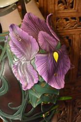 Women's Leather Iris Armor, Pauldron by SavagePunkStudio