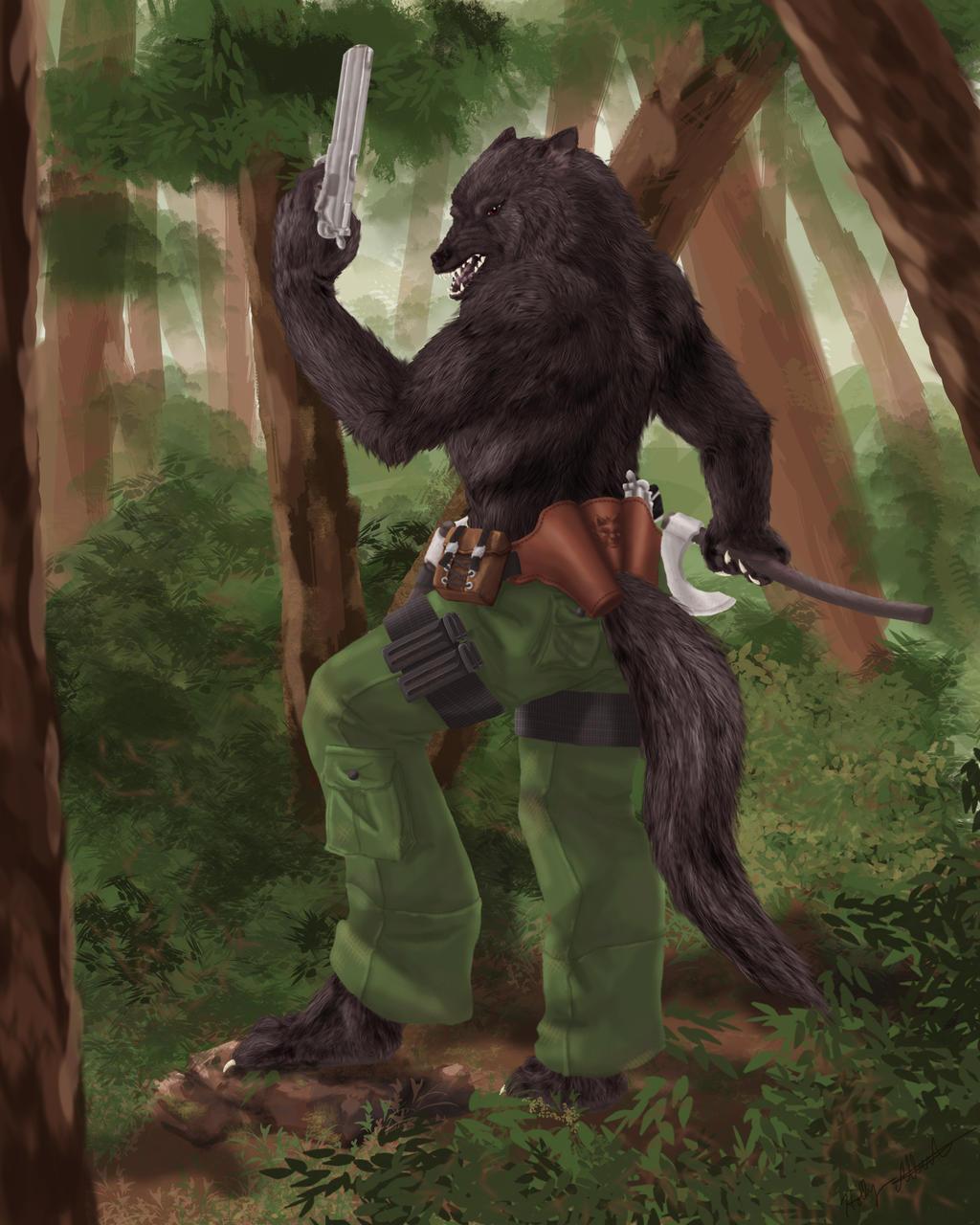 Werewolf warrior by Ihaveprobs on DeviantArt Werewolf Warrior Art
