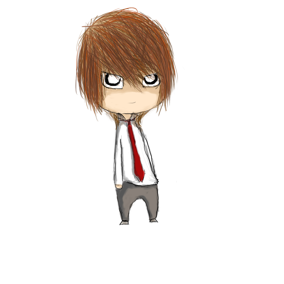 Chibi Light Yagami by AeroPenguin on DeviantArt