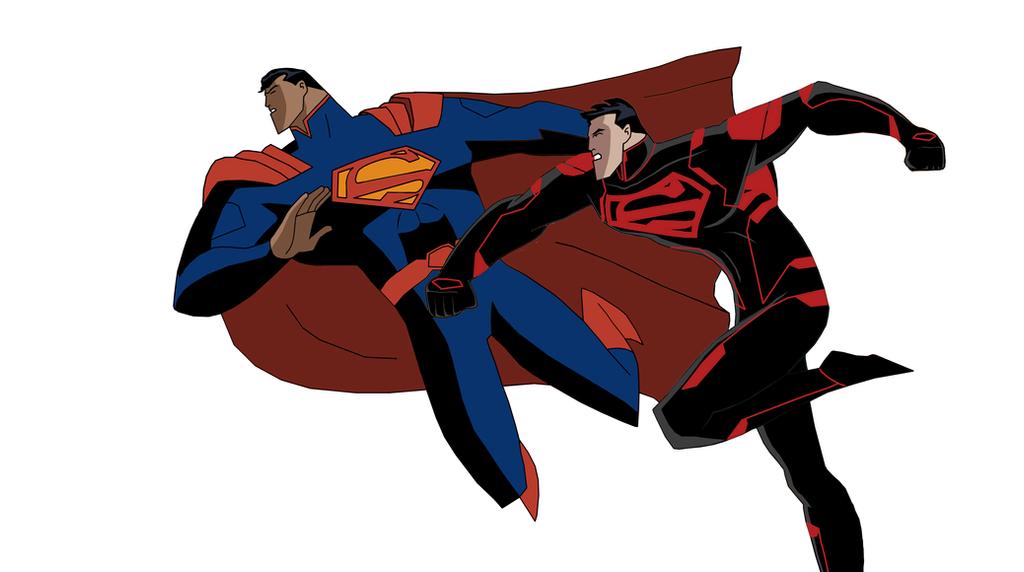 DCAU Superman vs DCAU Superboy with New 52 design by ...