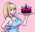 samus bakes a pretty cake