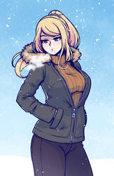 samus is ready for winter