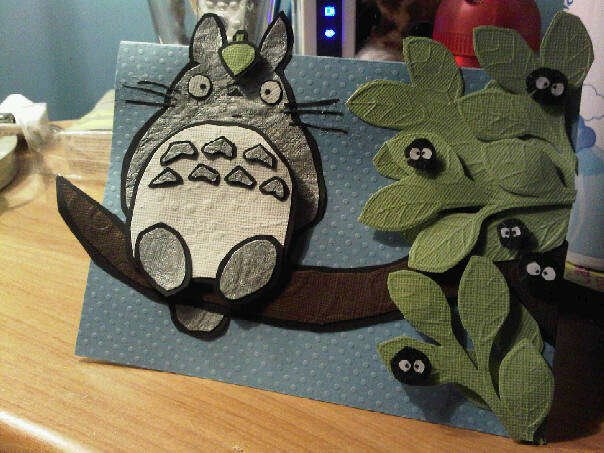 Totoro Birthday Card by vixxenette on DeviantArt – Totoro Birthday Card