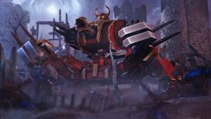 Daemon Engine of the Skull Champion by WarbringerVI