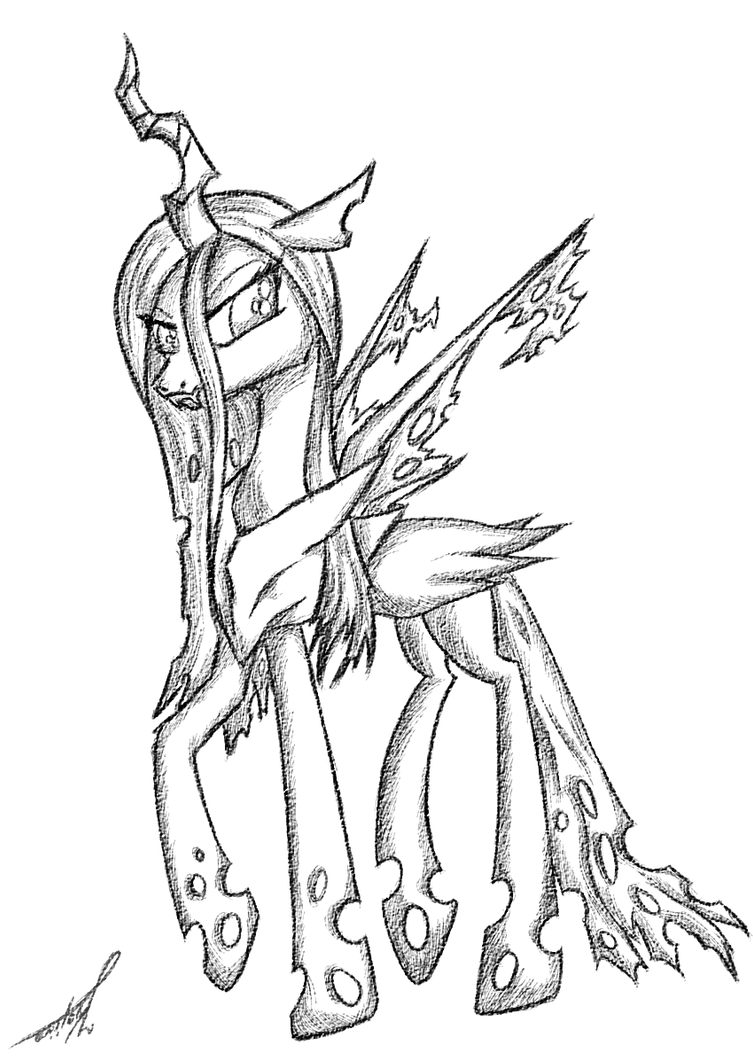 queen chrysalis coloring pages queen chrysalis by kojiro2561 on deviantart