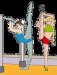 Stretching Cammy and Chun Li 2