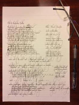 Handwriting - Ode to Hushabye Valley