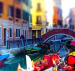 Rainbow colors in Venice