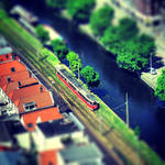 Miniature tram in The Hague by marjol3in1977