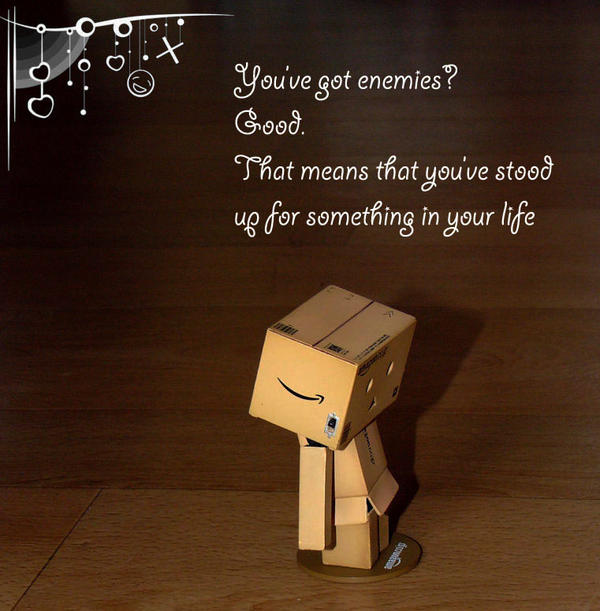 Danbo's thoughts about enemies by marjol3in1977