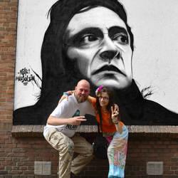 Johnny Cash graffiti by marjol3in1977