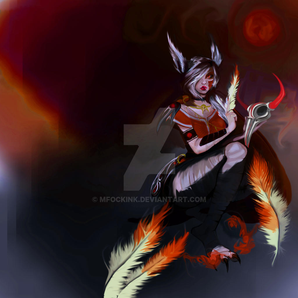 Xayah Blood Moon/ Lua Sangrenta by mFockink