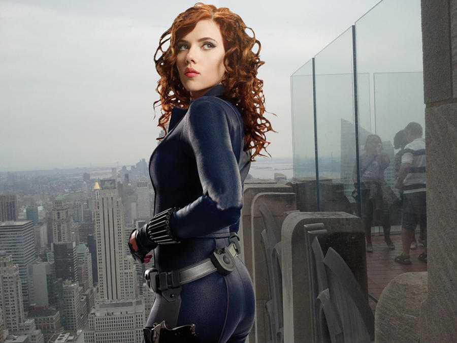 Big ass black widow