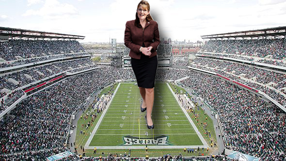 SARAH PALIN'S RAMPAGE THROUGH AN EAGLES GAME by darthbriboy