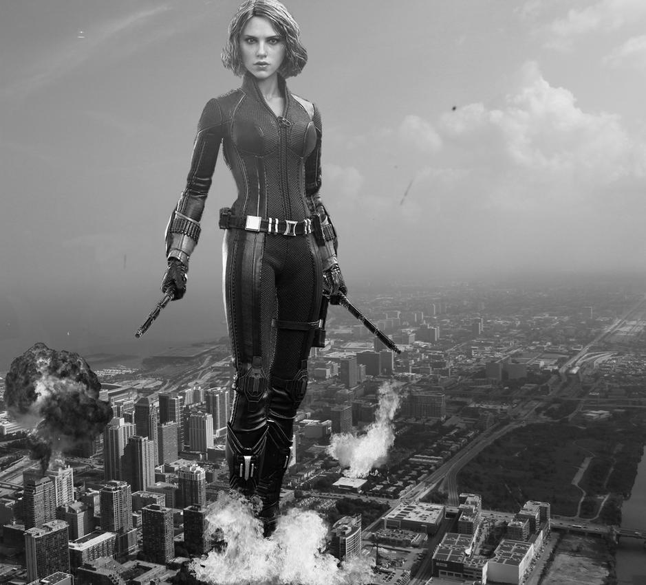 ATTACK OF THE GIANTESS BLACK WIDOW ACTION FIGURE 2 by darthbriboy