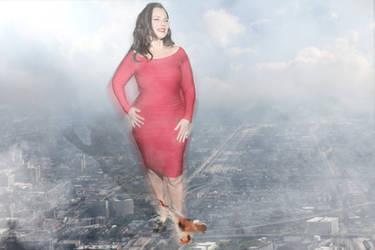 Giantess Fran Drescher Rampages Through Chicago by darthbriboy