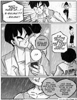 Dbz: Bulma and Vegeta - Firstkiss: Chapter 2, Pg10 by longlovevegeta