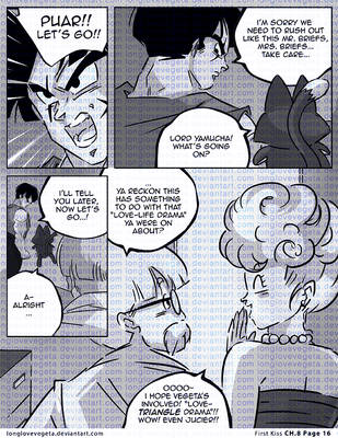 Dbz: Bulma and Vegeta - Firstkiss: Ch. 8 Pg 16 by longlovevegeta